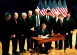 Signing the Partial Birth Abortion Ban: Notice anything missing? Like anyone who might ever NEED an abortion?
